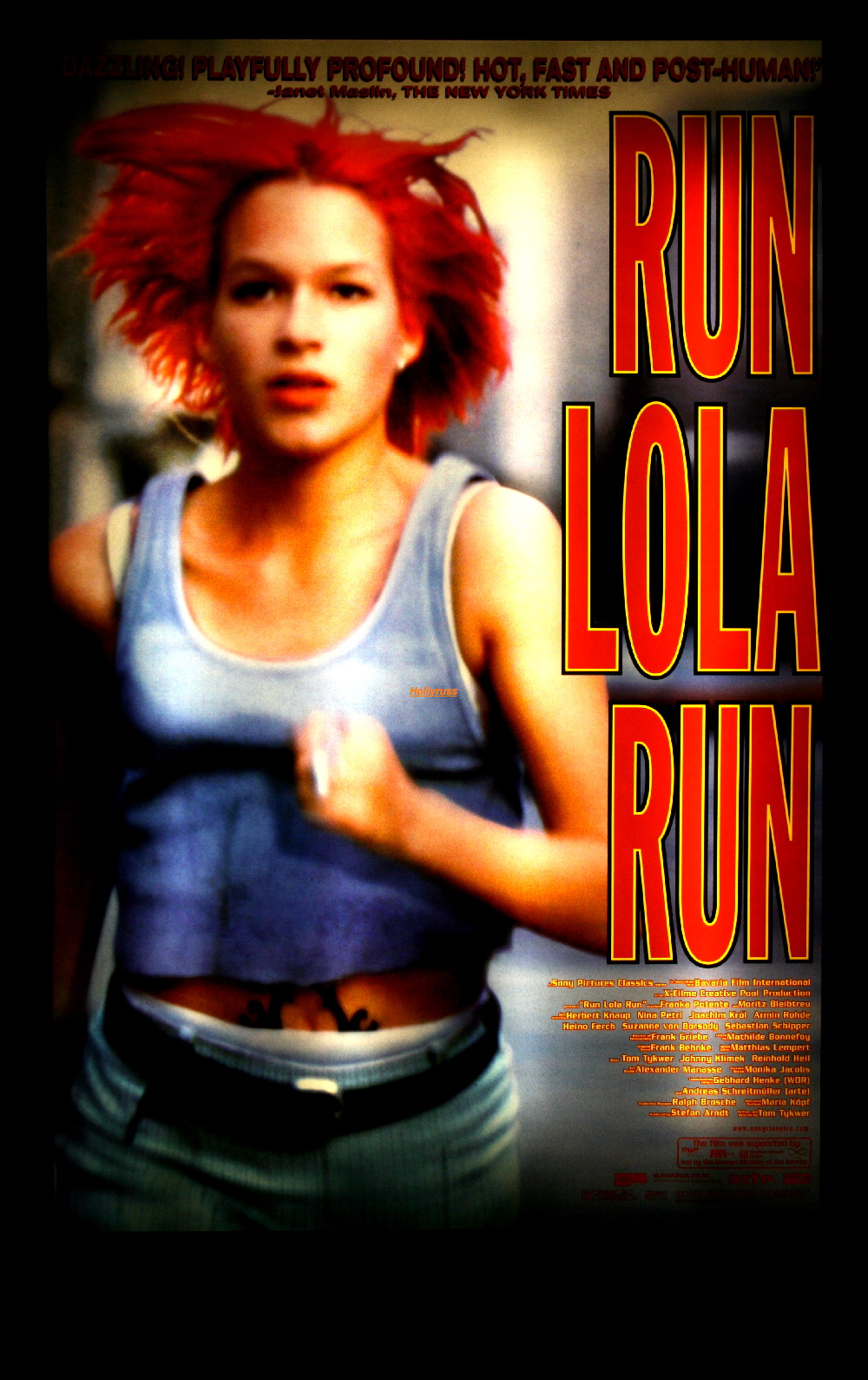 run lola Appropriately, the music from run lola run is frenetic, fast-paced techno -- which serves as the driving force behind the film's adrenalized action sequences about half the pieces were composed by the director himself ( tom tykwer ), and for the most part, the other contributors are little-known artists.